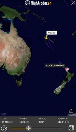 新西兰飞上海航班未获降落许可返航 航空公司